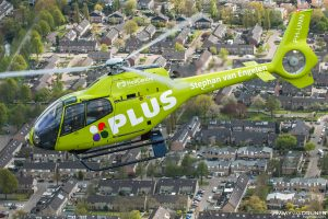 Helikopter Eurocopter EC120 PH-UNN HeliCentre in wrap voor de Plus supermarkt