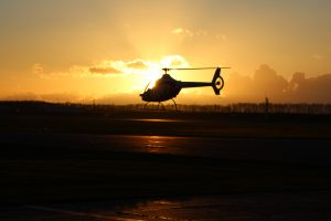 Guimbal Cabri G2 HeliCentre bij sunset