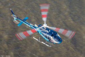 AS350 H125 helikopter HeliCentre PH-ITI vliegend nabij Zandvoort