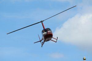 Helikopter Robinson R44 Raven II PH-JPS HeliCentre vliegend