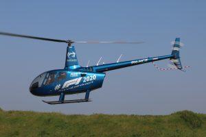 Helikopter Robinson R66 Turbine bestickering Formule 1 2020 Zandvoort