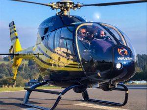 Helikopter Eurocopter EC120 PH-UNN HeliCentre bij de heliport van Spa Francorchamps